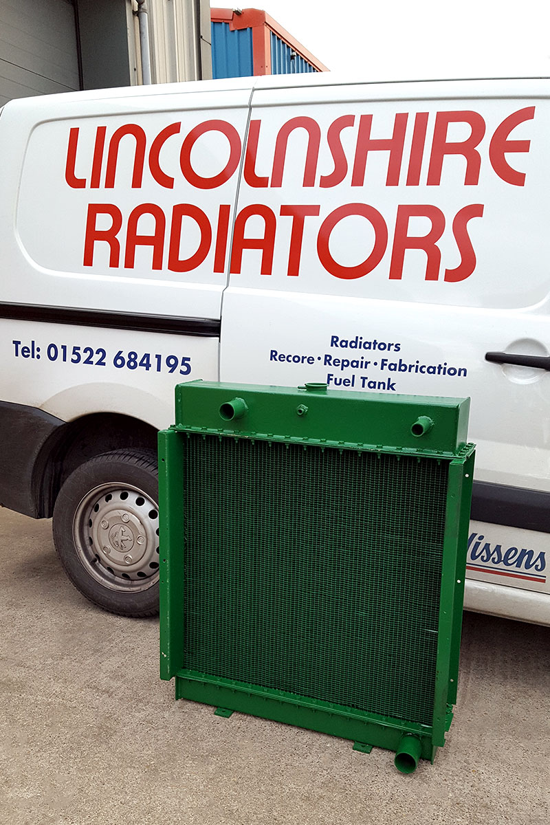 Refabricated radiator ready for despatch
